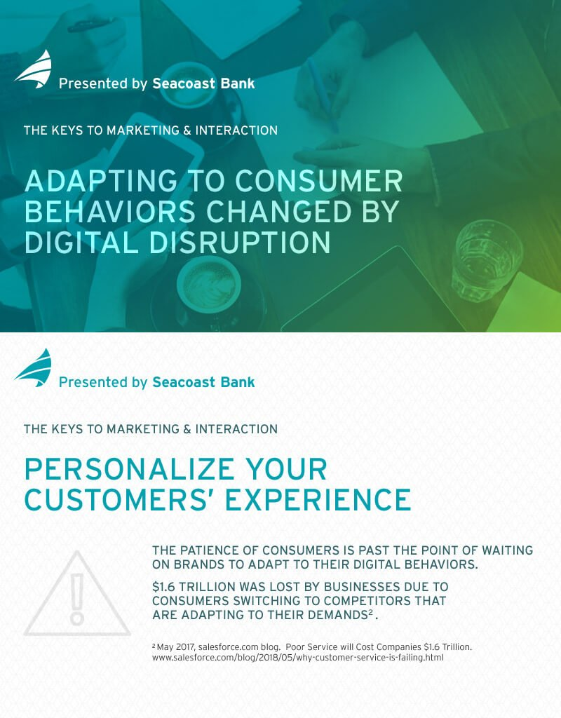 adapting to consumer behaviors header and infographic