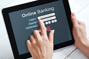 online banking login on tablet