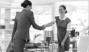 female business owner interviewing female candidate