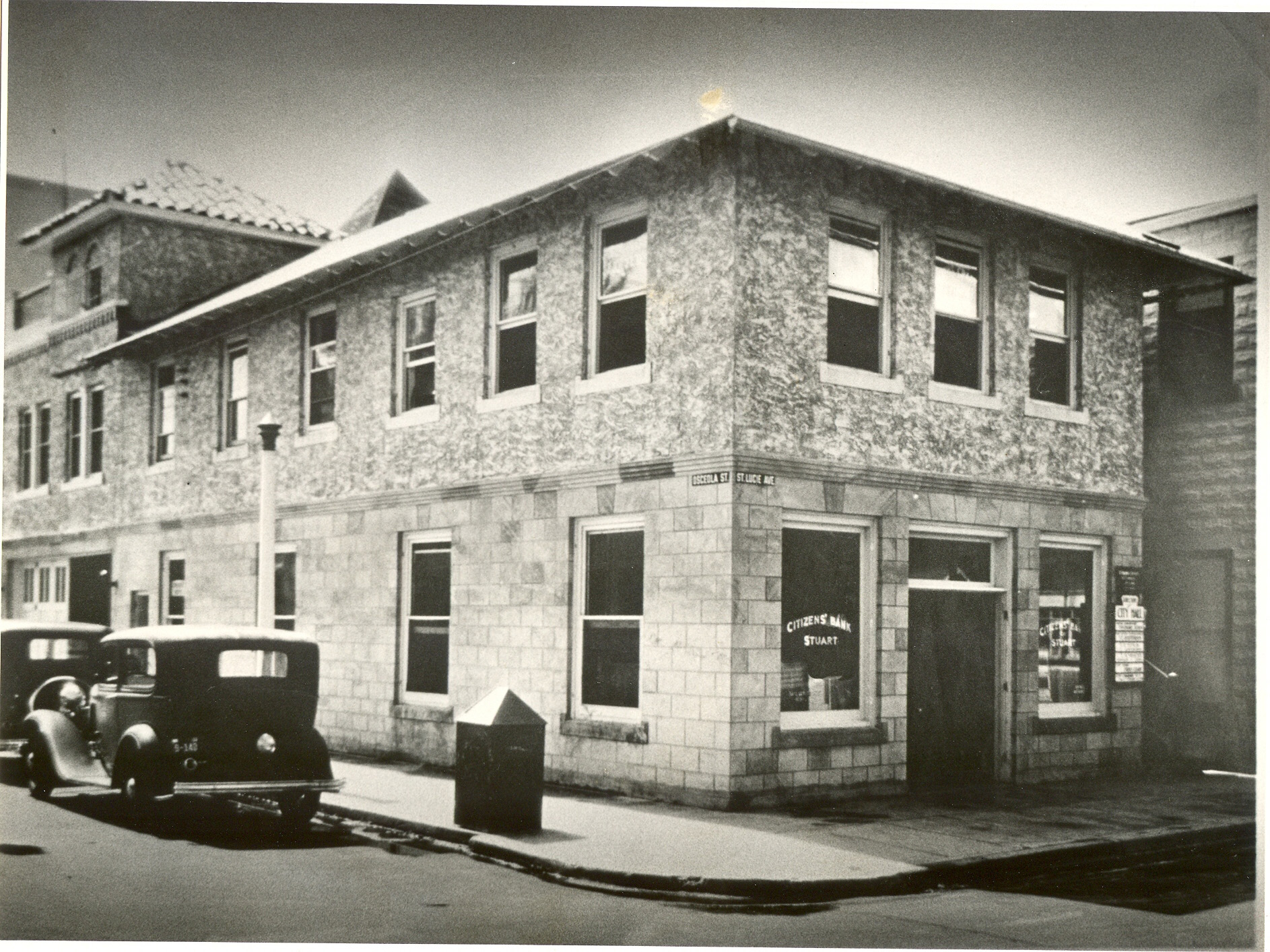 CitizensBankOfStuart_1933R(Site now Fellowship Hall)--seacoast history copy