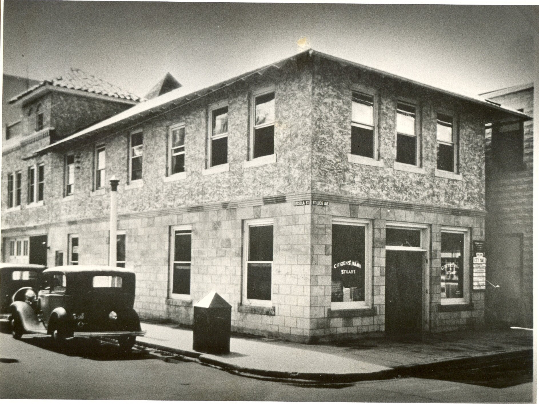 CitizensBankOfStuart_1933R(Site now Fellowship Hall)--seacoast history copy