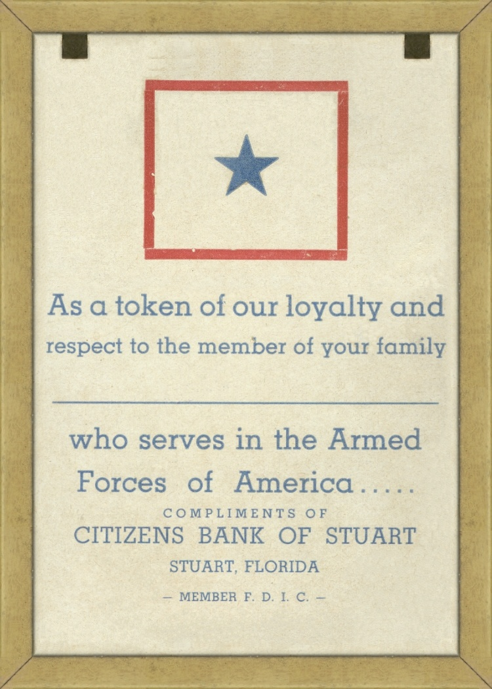 Memento World War II Seacoast Bank