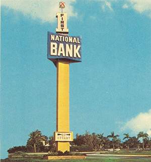 first national bank 1963