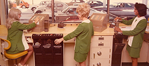bank tellers at colorado branch 1960s