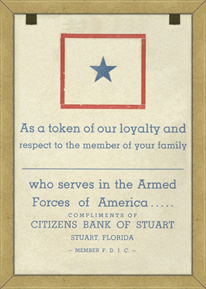 back of token provided by Citizen Bank