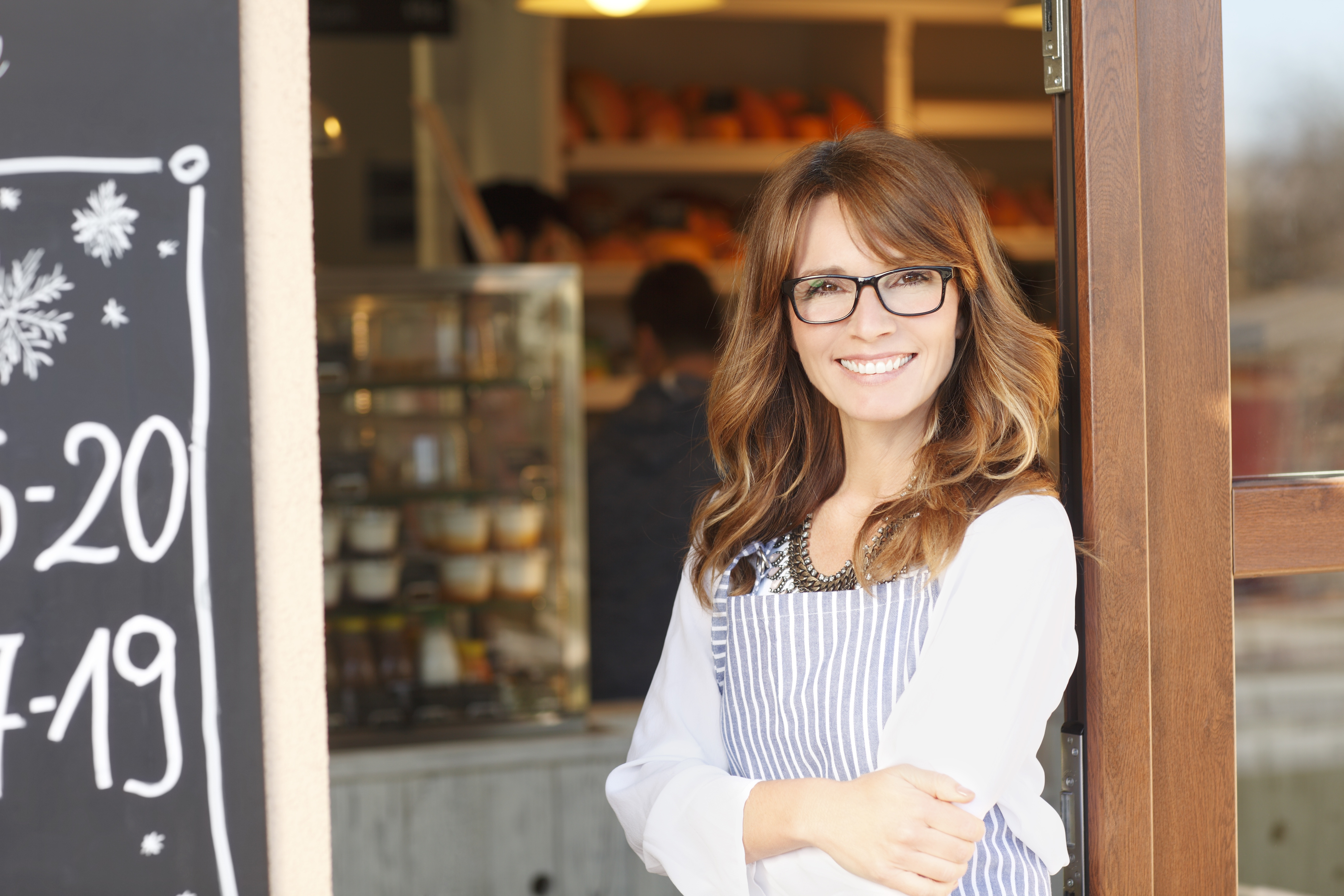 Small Business owner outside of her shop