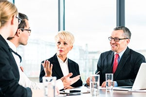 smart business people in a meeting