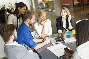 Group of working millennials