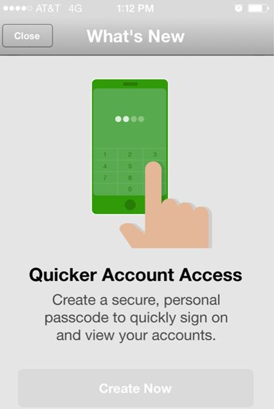 quicker account access